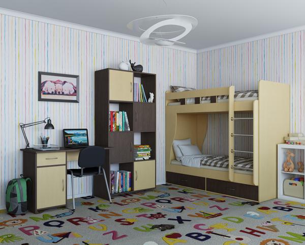 набор мебели для детской комнаты альба функциональная детская комната