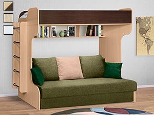 Bunk beds as a room divider, modern wall with built in bunk beds |  Квартирные идеи, Небольшие пространства, Комнаты мечты | 225x300