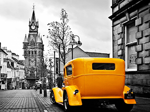 Картина Yellow car